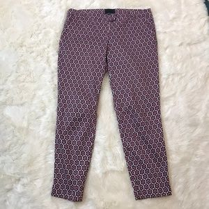 Cynthia Rowley Red Black and Ivory Pants 10
